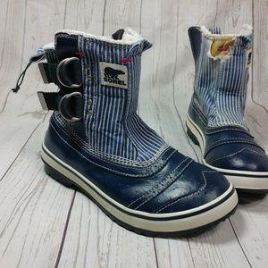 Sorel Womens 8 Ankle Boots denim Duck Water Proof